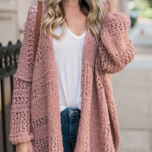Saturday Morning Cardigan in dust pink